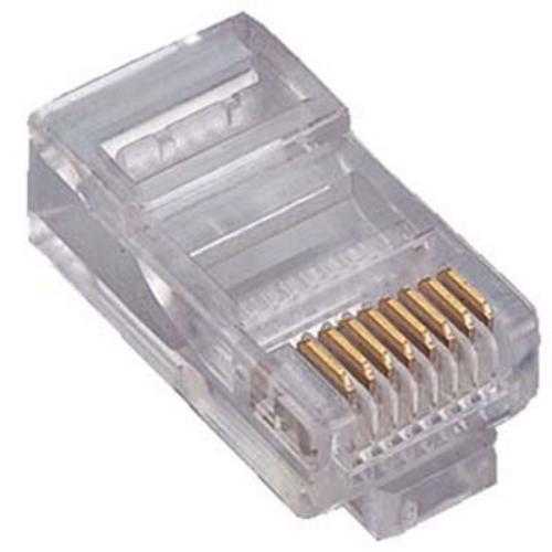سوکت شبکه CAT5 UTP امپ مدل 041 بسته 100 عددی