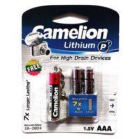 باتری نیم قلمی کملیون مدل Lithium P7 بسته دو عددی بهمراه چراغ قوه