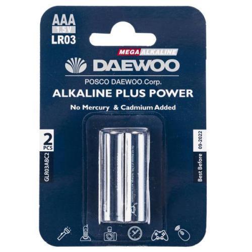 باتری نیم قلمی دوو مدل Alkaline Plus Power بسته دو عددی