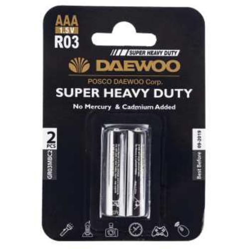 باتری نیم قلمی دوو مدل Super Heavy Duty بسته دو عددی