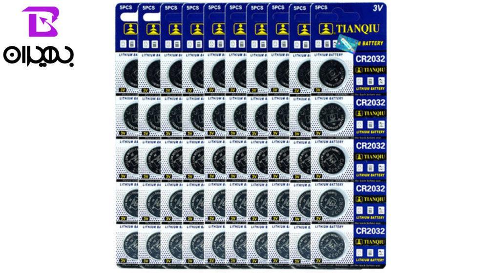 باتری سکه ای TIANQIU مدل ۲۰۳۲ بسته 5 عددی
