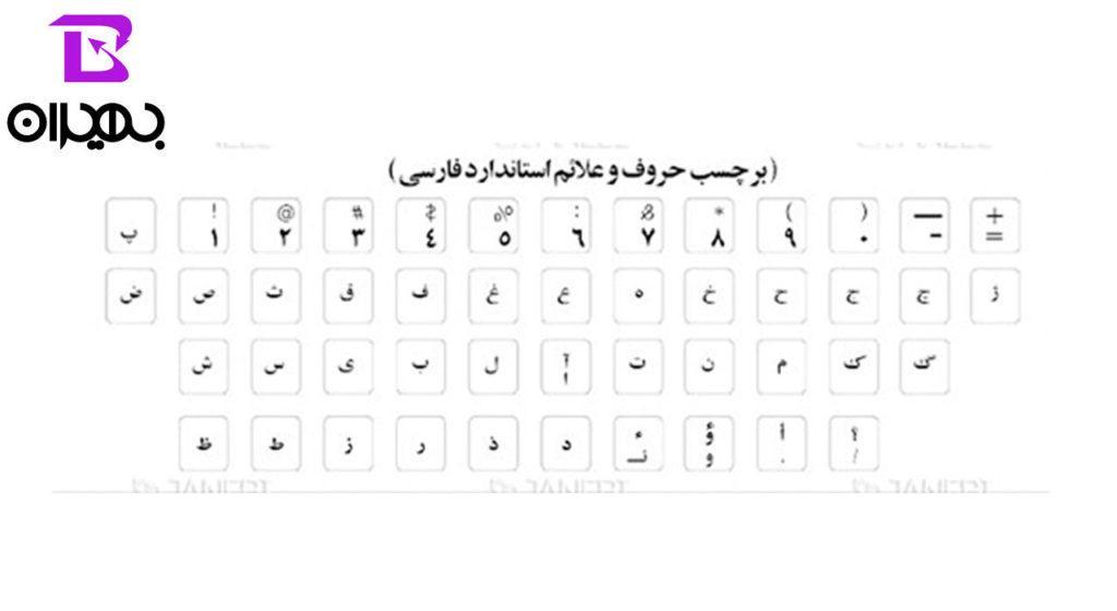 لیبل فارسی صفحه کلید معمولی مدل ۰۰۲