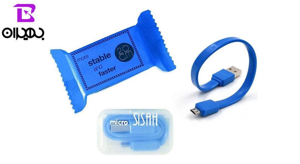 کابل تبدیل USB به MicroUSB پاوربانکی پک شکلاتی مدل ۲۶۰