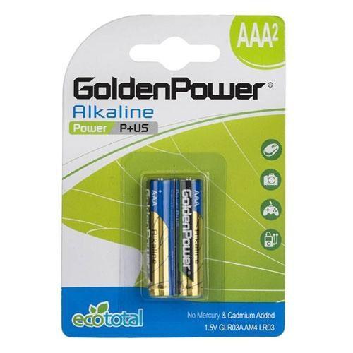 golden 500x500 - باتری نیم قلمی گلدن پاور مدل آلکالاین ۰۰۹