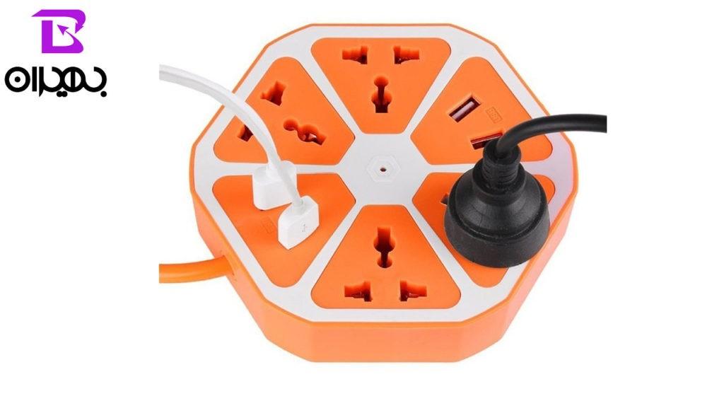 چند راهی برق Hexagon مدل 4USB