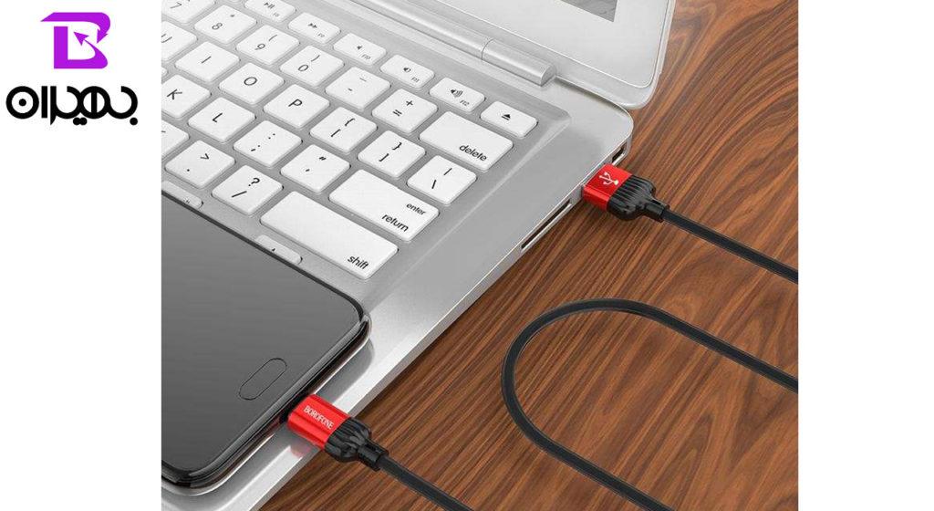 کابل تبدیل USB به MicroUSB بروفون مدل BX8 طول 1 متر