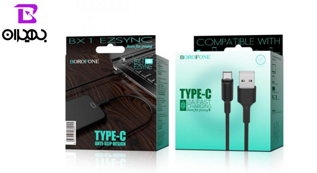 کابل تبدیل USB به Type-C بروفون مدل BX1 طول ۱ متر