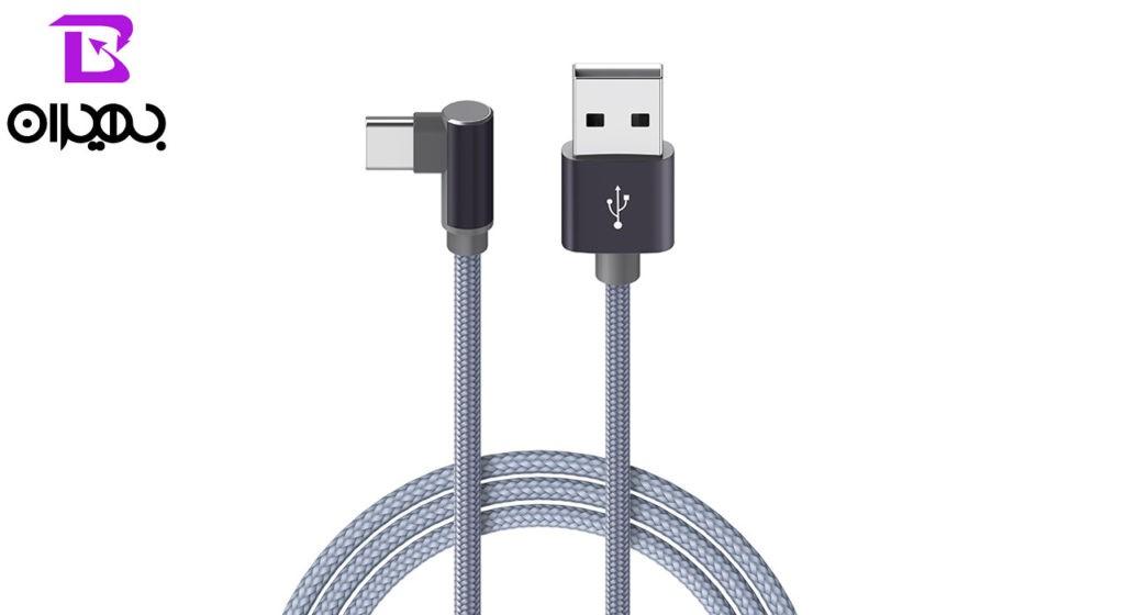 کابل تبدیل USB به Type-C بروفون مدل BX12 طول 1 متر