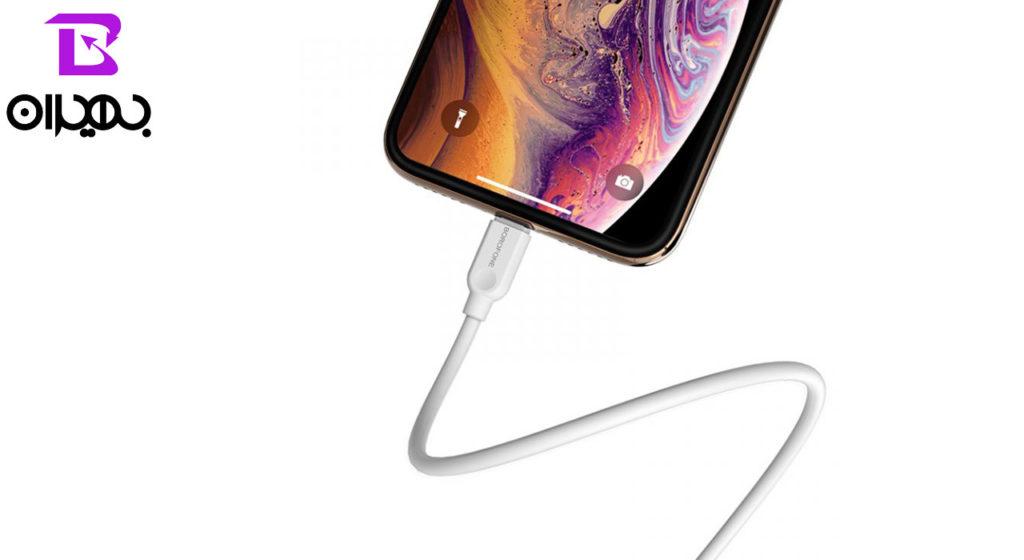 کابل تبدیل USB به لایتنینگ بروفون مدل BX14 طول ۱ متر