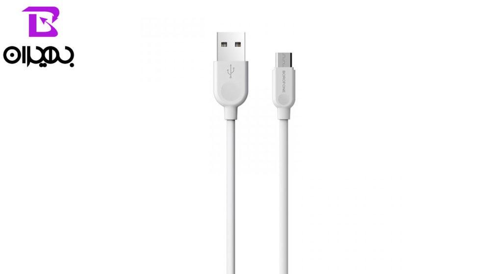 کابل تبدیل USB به MicroUSB بروفون مدل BX14 طول ۱ متر