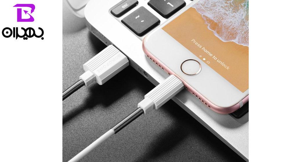 کابل تبدیل USB به لایتنینگ بروفون مدل BX11 طول 1 متر