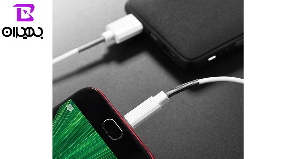 کابل تبدیل USB به MicroUSB بروفون مدل BX11 طول 1 متر