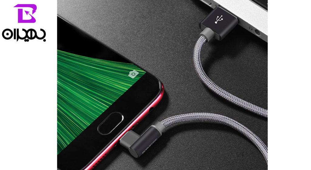 کابل تبدیل USB به MicroUSB بروفون مدل BX12 طول 1 متر