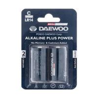 Daewoo Alkaline plus Power C Battery Pack of 2 200x200 - باتری متوسط دوو مدل Alkaline plus Power بسته ۲ عددی