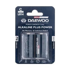 Daewoo Alkaline plus Power C Battery Pack of 2