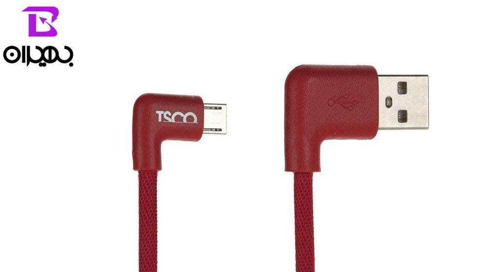 کابل تبدیل USB به MicroUSB تسکو مدل TC 59N طول ۰٫۲ متر