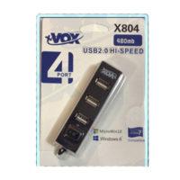 XVOX x 804 USB Hub 4p 200x200 - هاب X-VOX USB2.0 مدل x-804 چهار پورت