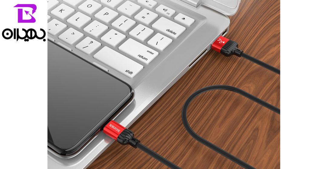 کابل تبدیل USB به لایتنینگ بروفون مدل BX8 طول 1 متر