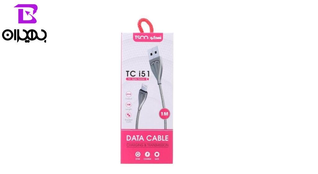 کابل تبدیل USB به لایتنینگ تسکو مدل TC i51 طول 1 متر