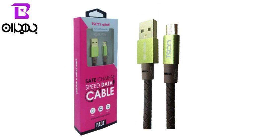 کابل تبدیل USB به MicroUSB تسکو مدل TC 65 چرم طول 1 متر