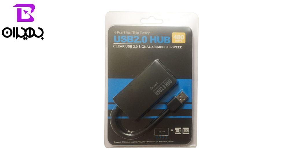 هاب USB 2.0 دی-نت 4 پورت مدل 019
