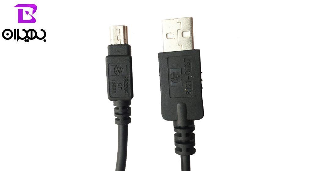 کابل USB به miniUSB اورجینال اچ پی طول 1.5 متر