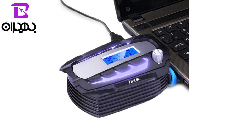خنک کننده لپ تاپ و مکنده هوای هویت مدل 2061