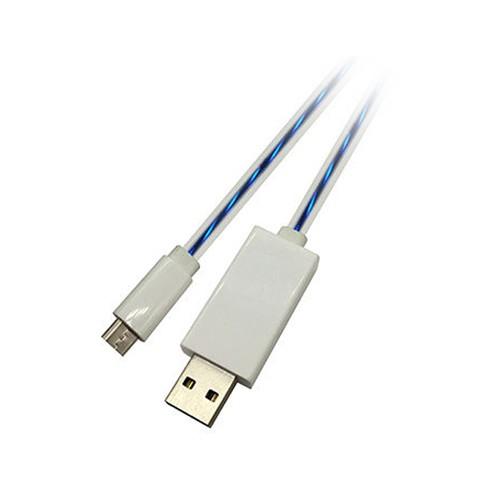 کابل تبدیل USB به MicroUSB مدل Lights UP طول 0.8 متر