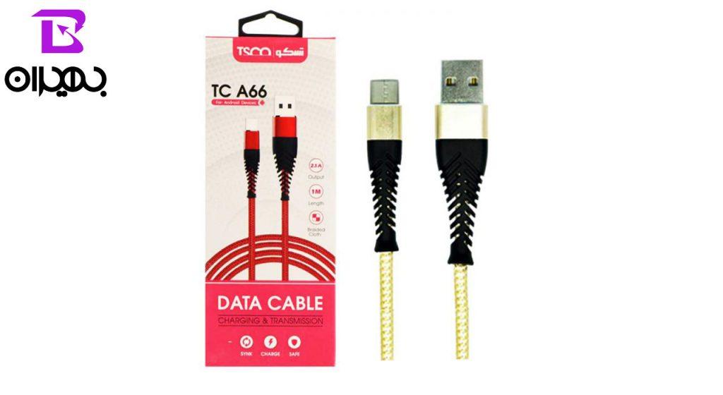 کابل تبدیل USB به MicroUSB تسکو مدل TC A66