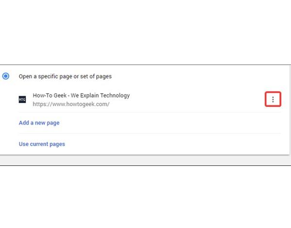 هوم پیج در گوگل کروم