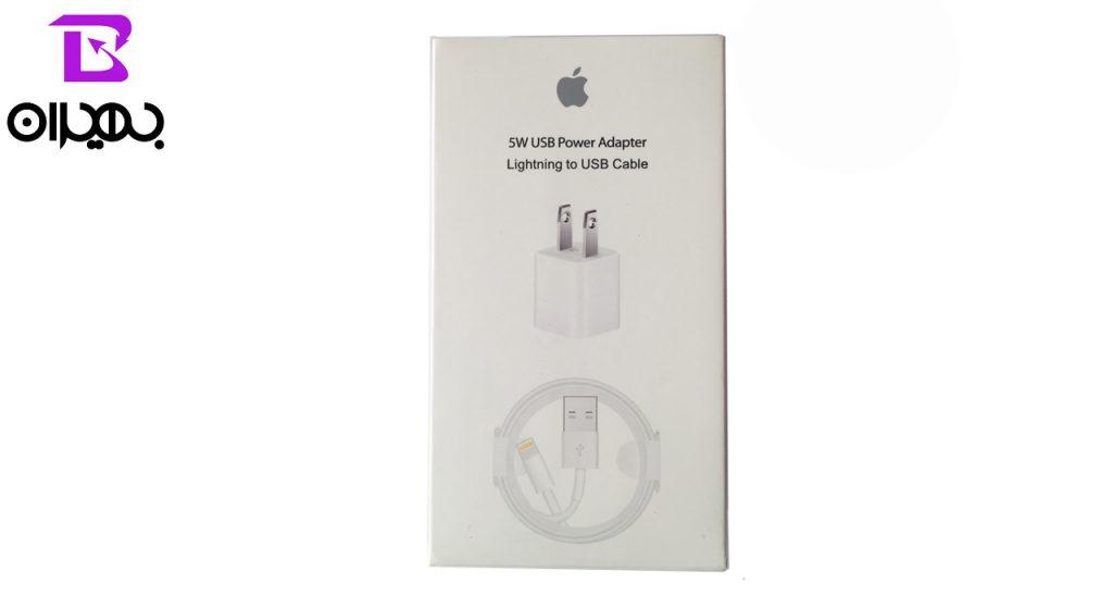 شارژر و کابل تبدیل USB به لایتنینگ مدل MD814CHA