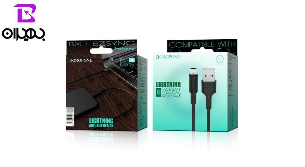 کابل تبدیل USB به لایتنینگ مدل BX1 طول 1 متر