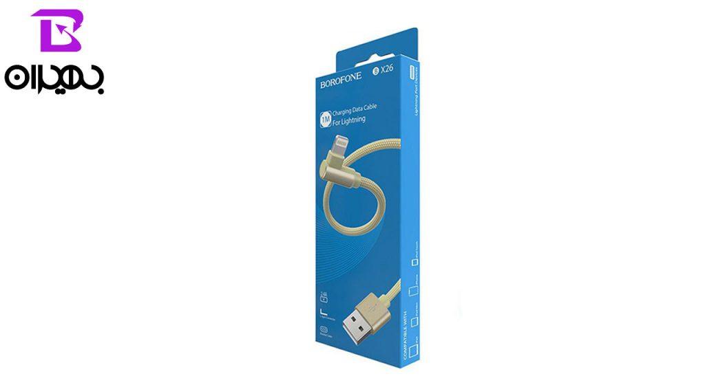 کابل تبدیل USB به لایتنینگ بروفون مدل BX26 طول 1 متر