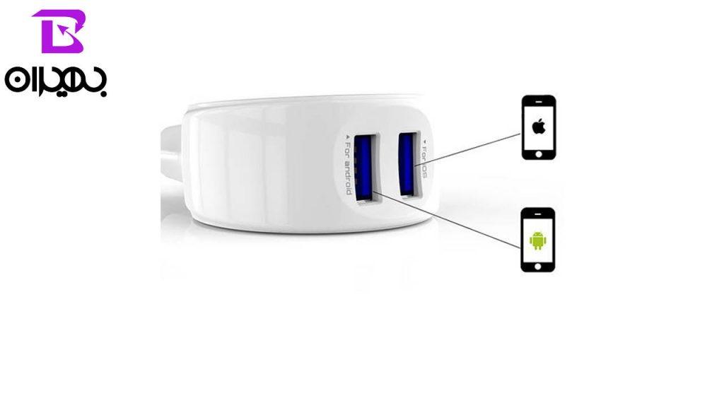 شارژر و کابل تبدیل USB به MicroUSB الدینیو مدل A2269