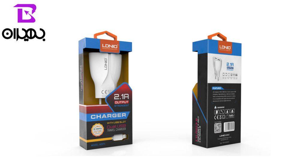 شارژر و کابل تبدیل USB به MicroUSB الدینیو مدل A2271