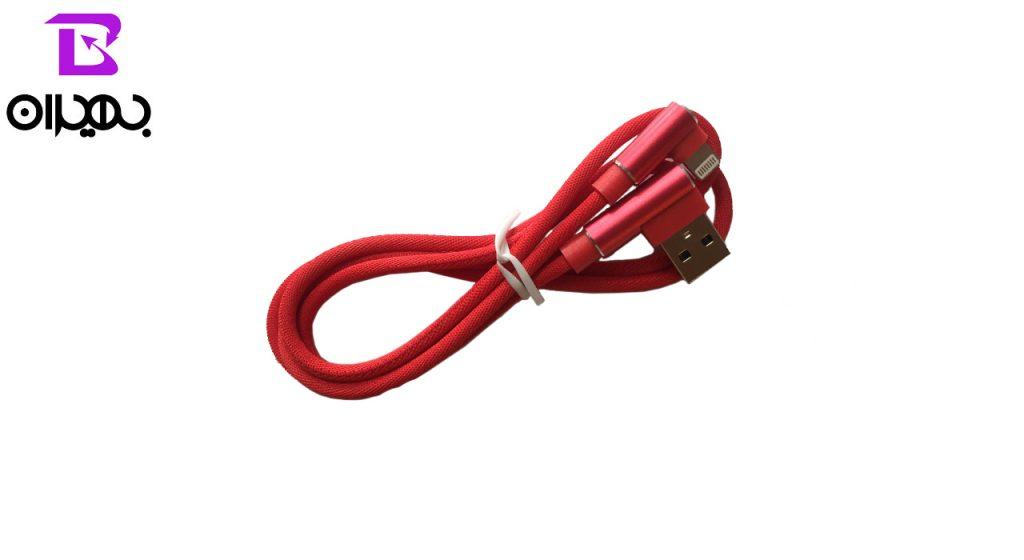 کابل تبدیل USB به لایتنینگ وپو مدل 338 طول 1 متر