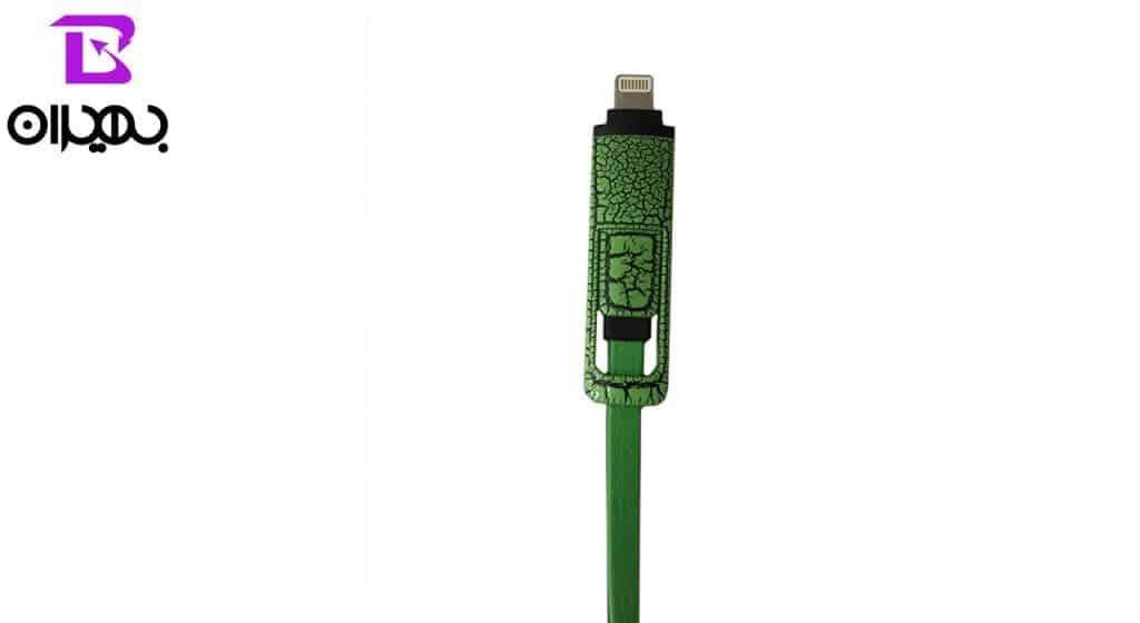 کابل USB به MicroUSB و لایتنینگ