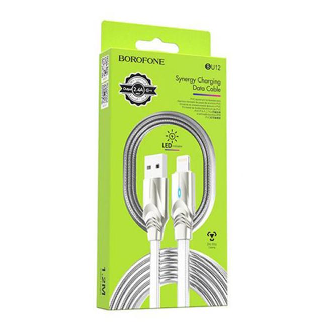 کابل تبدیل USB به لایتنینگ بروفون مدل BU12 طول 1 متر