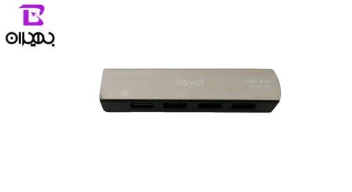 هاب USB رویال 4 پورت مدل RH2-428