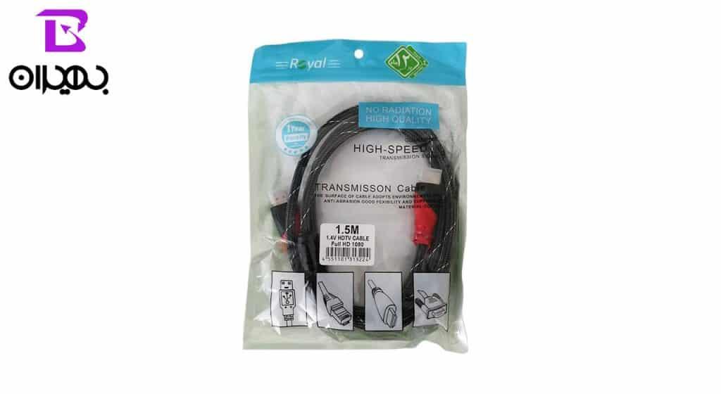 کابل HDMI رویال مدل 084 طول 1.5 متر