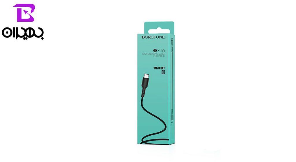 کابل تبدیل USB به Type-C بروفون مدل BX16 طول 1 متر