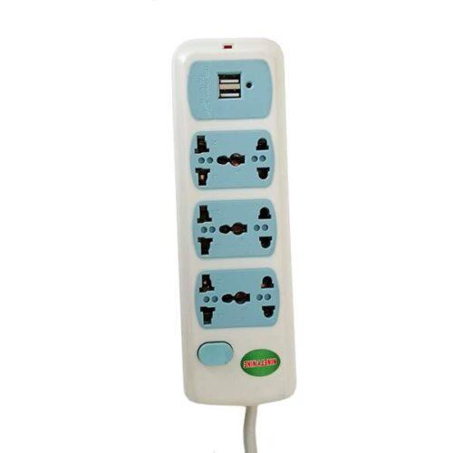 سه خانه برق همه کاره با پورت USB