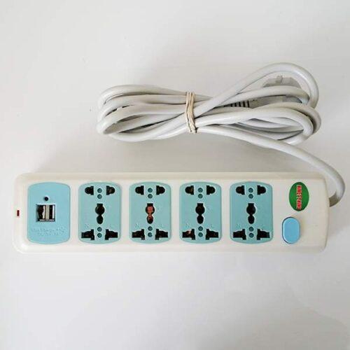 چهارخانه برق همه کاره با پورت USB مدل 062