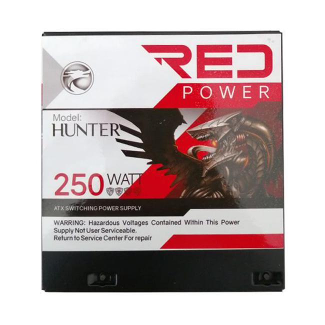 منبع تغذیه کامپیوتر RED مدل hunter 250w