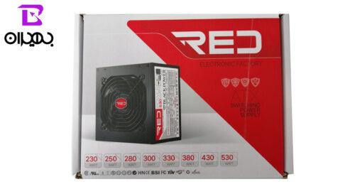 منبع تغذیه کامپیوتر RED مدل racer 330w