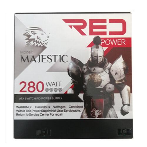 منبع تغذیه کامپیوتر RED مدل majestic 280w