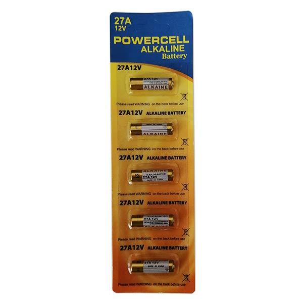 باتری ریموتی پاورسل مدل 27A بسته 5 عددی
