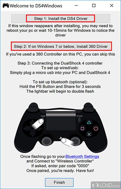 اتصال دسته PS4 به کامپیوتر با بلوتوث