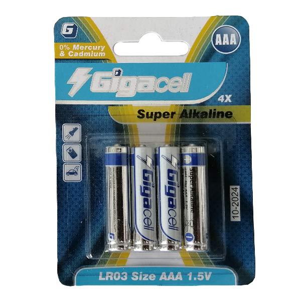 باتری نیم قلمی گیگاسل مدل Super Alkaline بسته 4 عددی