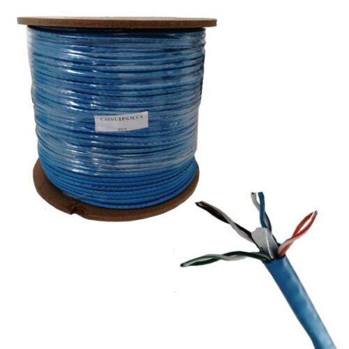 کابل شبکه حلقه نگزنس Cat6 مدل UTP CCA طول 1 متر